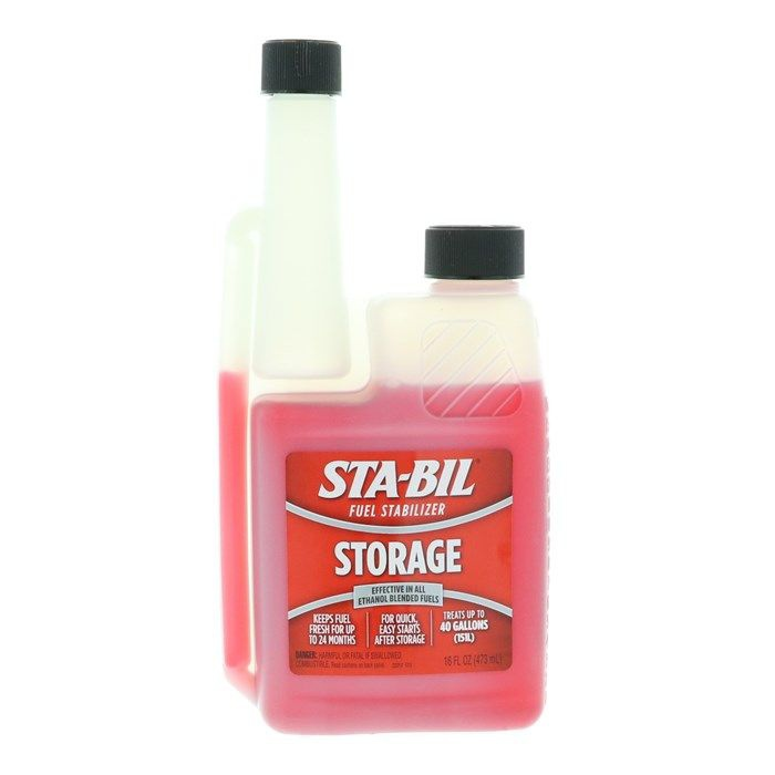 Sta-Bil Fuel stabilizer storage